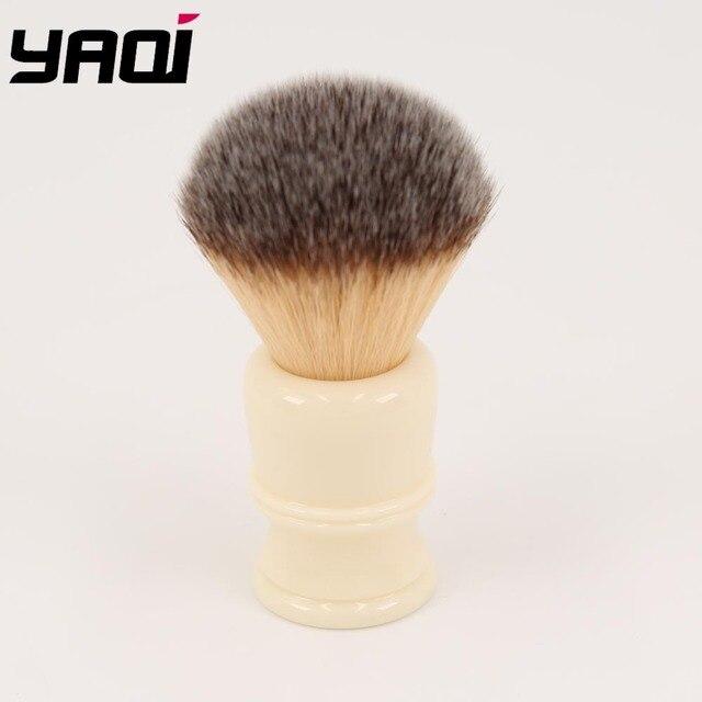 22MM Synthetic Hair Milky White Resin Handle Men's Shaving Brushes