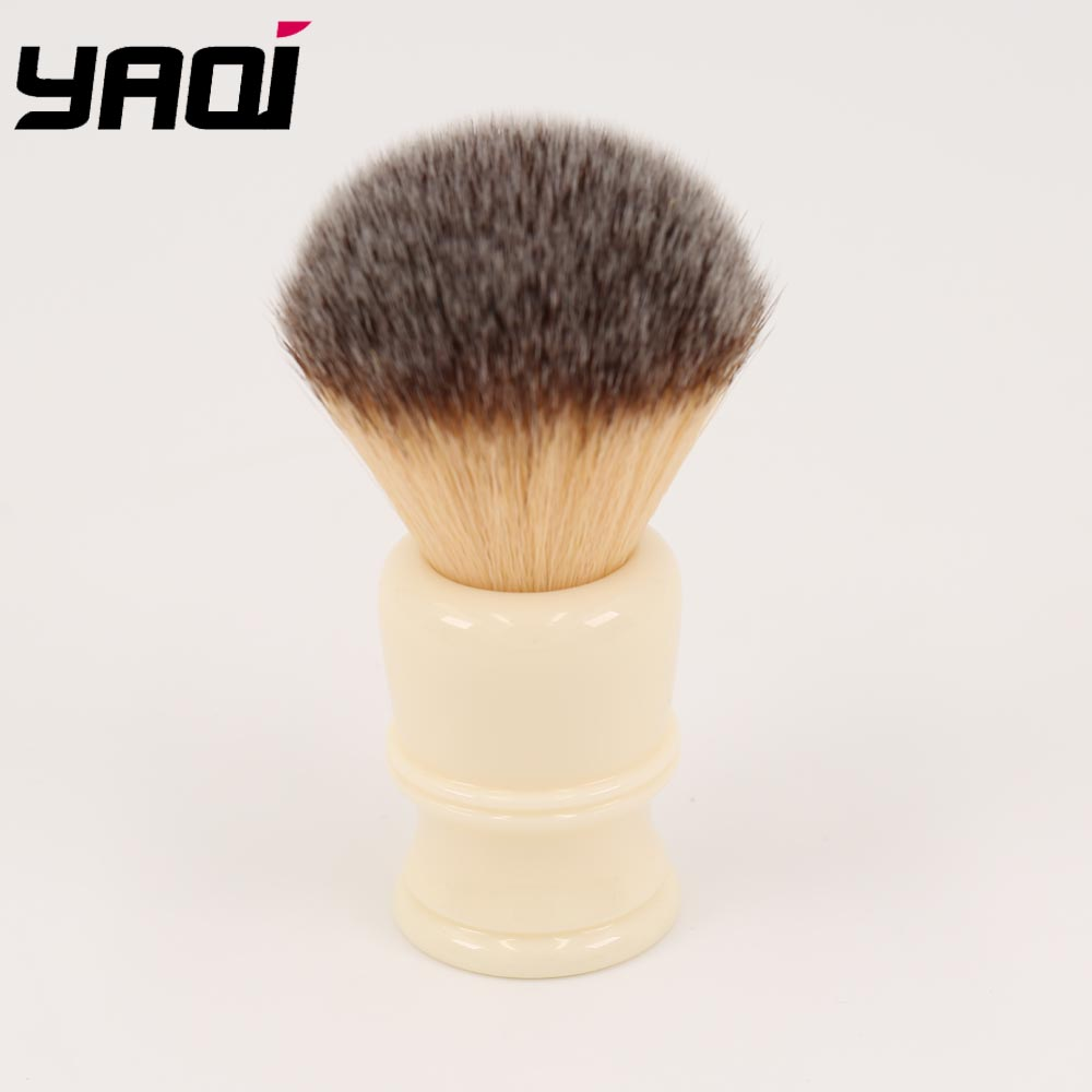 Yaqi 22MM Synthetic Hair Milky White Resin Handle Men's Shaving Brushes