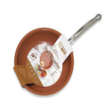 10 Inches Non-stick Copper Frying Pan with Ceramic Coating and Induction cooking,Oven & Dishwasher safe