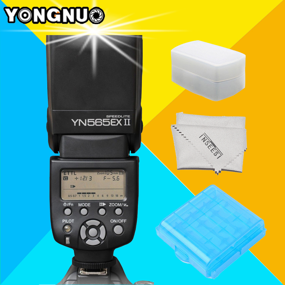 YONGNUO YN-565EX II YN565EX II Wireless TTL Flash Speedlite For Canon 6d 60d 5d mark iii 550d 1100d 650d 600d 700d 7d Cameras yongnuo yn600ex rt ii 2 4g wireless hss 1 8000s master ttl flash speedlite or yn e3 rt controller for canon 5d3 5d2 7d 6d 70d