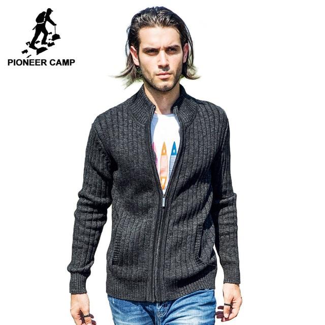 Pioneer Camp. Trasporto libero 2017 new fashion mens cardigan maglione  casual mens importato-abbigliamento da uomo in cotone maglieria coat  maglione ed6657103ac
