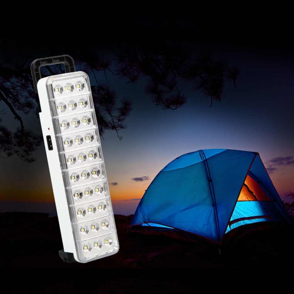 30LED Multi-function Rechargeable Emergency Light Flashlight Mini 30 LED Emergency Light Lamp 2 Mode For Home Camp Outdoor