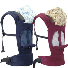 Multifunction Outdoor Kangaroo Baby Carrier with Hood Sling Backpack Infant Hipseat Adjustable Wrap for Carrying Head Protection