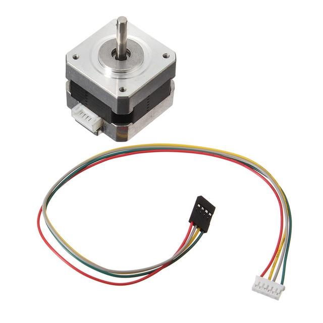 Nema 17 Stepper Motor bipolar 4 leads 34mm 12V 1.5 A 26Ncm(36.8oz.in  Oz Nema Stepper Wiring Diagram on