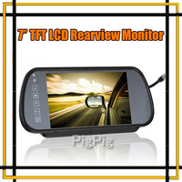 Wholesale Car Monitor 7 Color TFT LCD Car Rearview Monitor SD USB Free Shipping