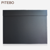 PITEBO leather office desk A3/ A4 file paper clip drawing & writing board writting pad tablet black