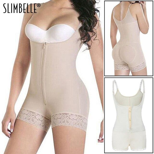 Women Body Shaper Seamless Tummy Control Full Shapewear Open Zipper Bust Slimmer Belly Bodysuit Slim Waist Trainer Corset Girdle