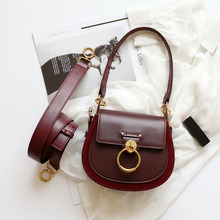 Women bag Genuine leather+Suede luxury brand design Shoulder Bags messenger women
