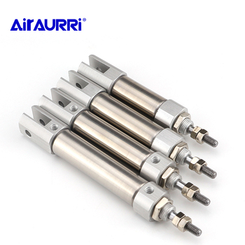 SMC type CDJ2D 10 12 16 bore stroke 5 10 15 20 25 30 40 50  DOUBLE Clevis mini cylinder smc type air cylinder cqmb cdqmb bore 25mm compact rod guide pneumatic cylinder components stroke 5 10 15 20 25 30 35 40 45 50m