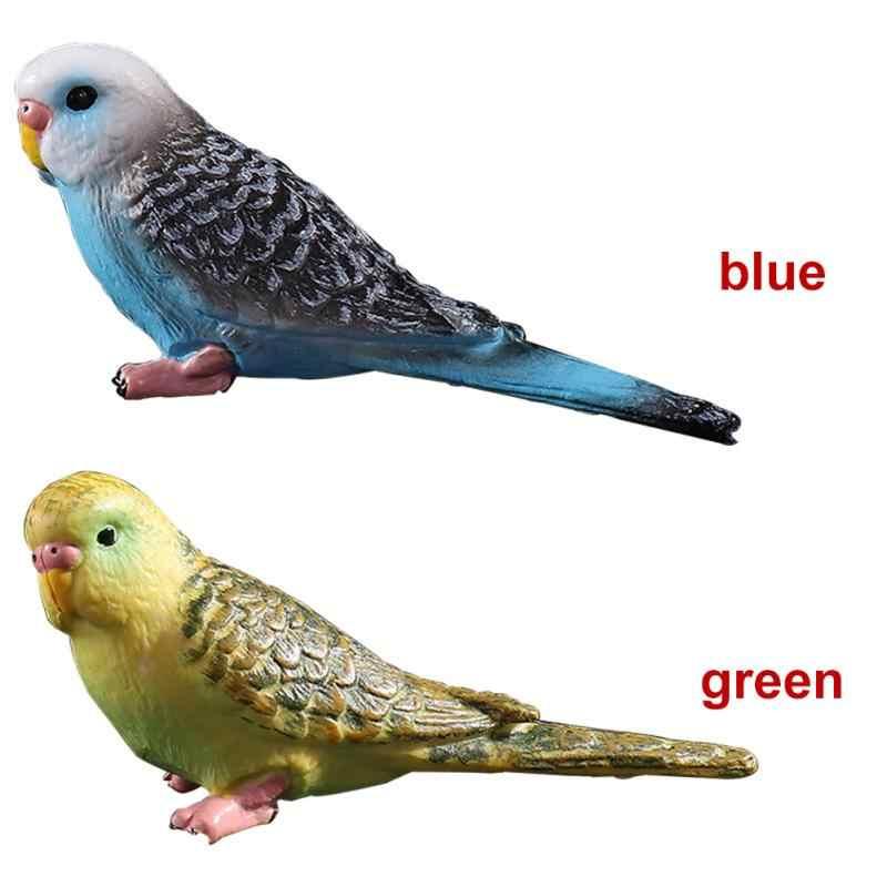 סימולציה מיני תוכי חמוד ציפור צלמית בעלי החיים עיצוב בית מיניאטורי פיות גן קישוט אביזרי מודרני דמות