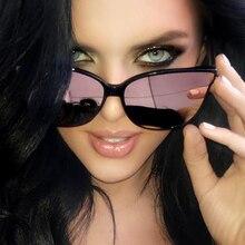 2017 будущее моды Для женщин цвет Роскошные Flat Top кошачий глаз Солнцезащитные очки для женщин Óculos De Sol мужчины twin луч негабаритных Защита от солнца очки UV400