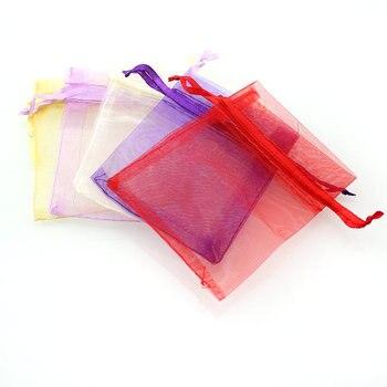 QIAO Many Colors 5*7mm 100pcs/lot Mini Organza Bags Favor Wedding ...