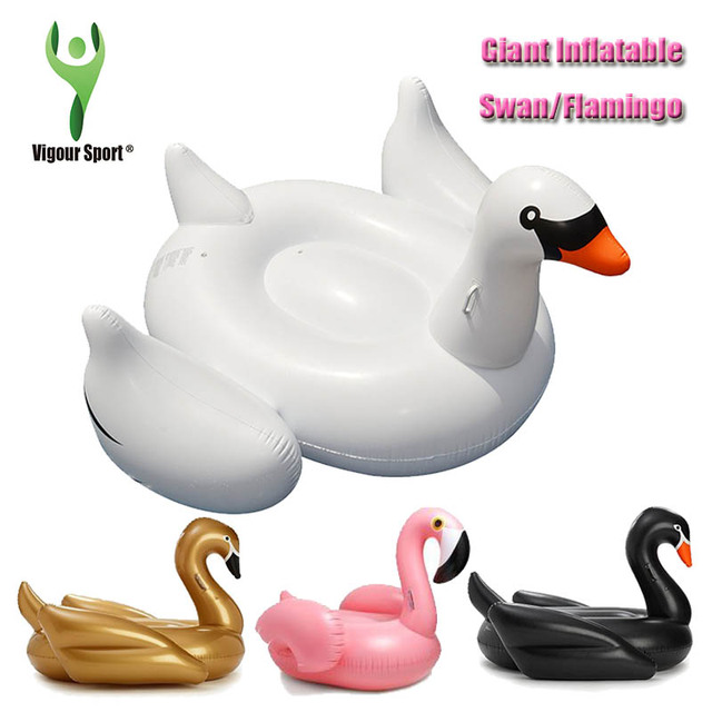 60 inch 1.5M Giant Swan Inflatable Flamingo Ride-On Pool Toy Float inflatable swan pool Swim Ring Holiday Water Fun Pool Toys