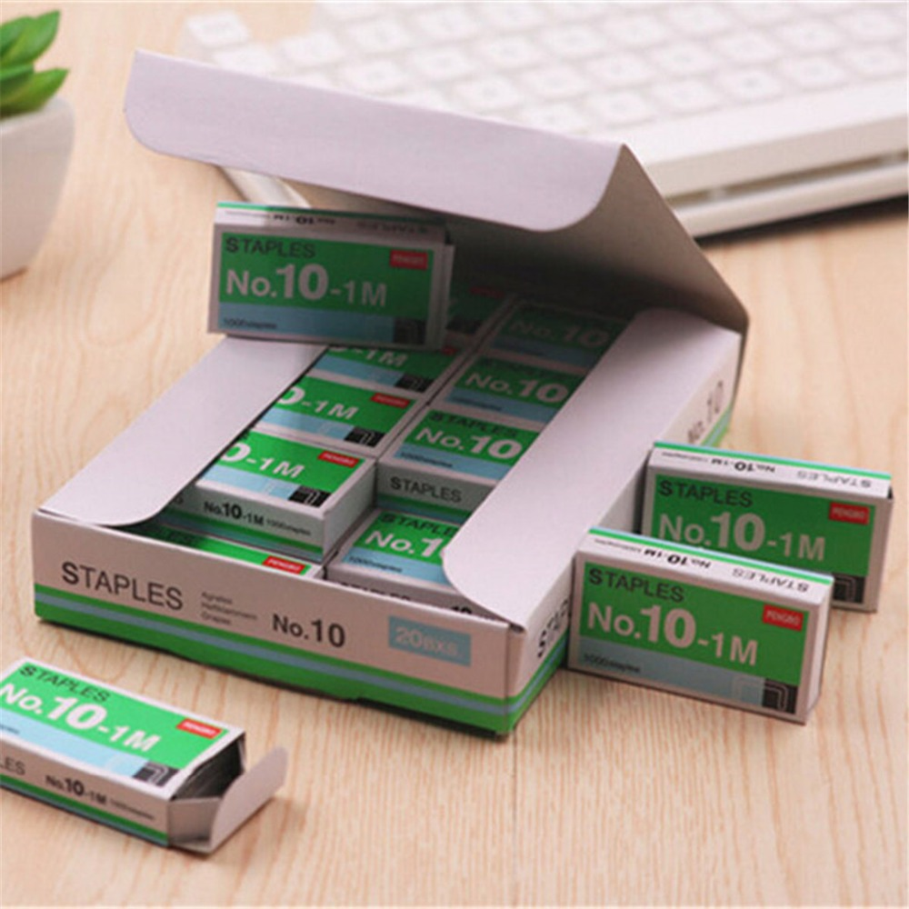 20 Packs/lot Mini Staples No. 10 Staples Small Kawaii  Office Binding Universal For School Study Supplies Gifts Cute Stationery