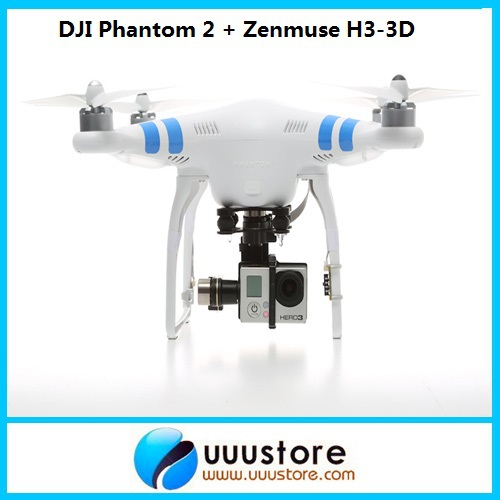 DJI Phantom 2 Build-in NAZA GPS With Zenmuse H3-3D 3-Axis Gimbal For Gopro Hero 3 Camera original naza gps for naza m v2 flight controller with antenna stand holder free shipping