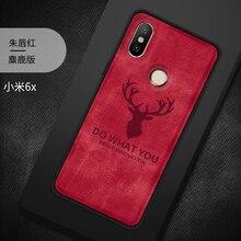 цена на Case for Xiaomi Mi 6X Mi A2 Case Soft Silicone Cloth Cover For Xiaomi Mi 6x Mi6x Case For Xiaomi A2 Mi A2 Mia2 Deer Phone Case