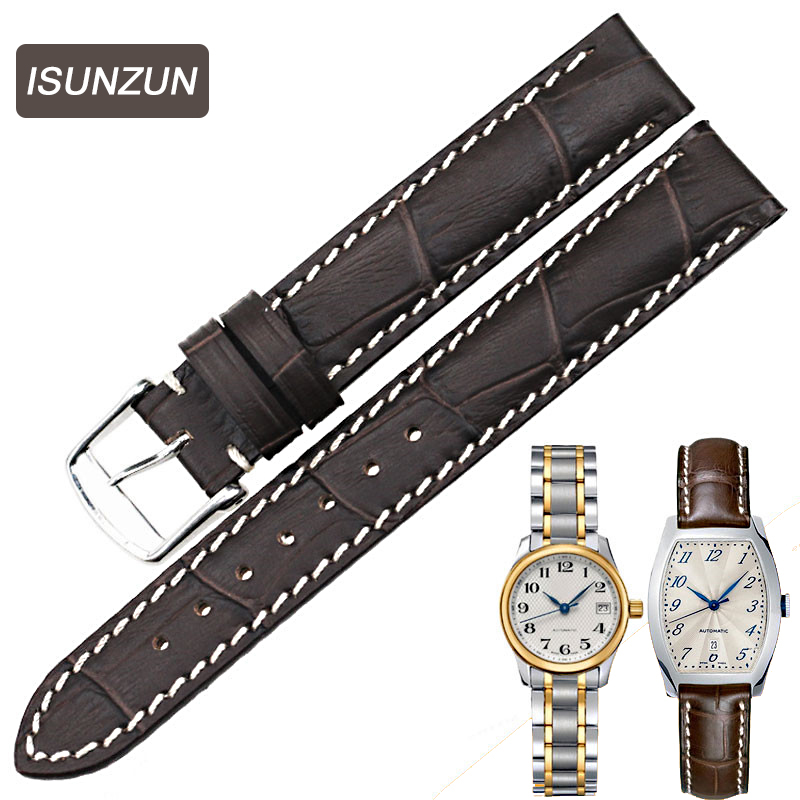 Top Quality Women's Watch Straps for Longines Series L2.142 Genuine Leather 14MM Female Watch Strap Leather Belt Watchbands часы longines