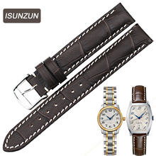 Top Quality Women's Watch Straps for Longines Series L2.142 Genuine Leather 14MM Female Watch Strap Leather Belt Watchbands  все цены