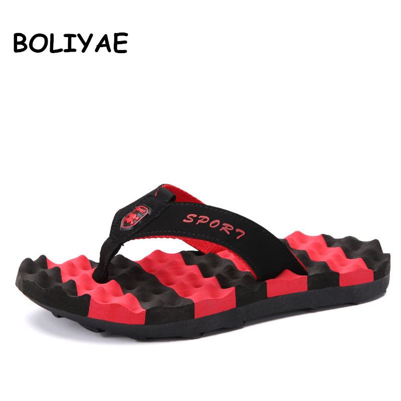 Men Flip-Flops Shoes Sandals Male Slippers Non-Slip Comfortable Beach Plus-Size Summer
