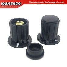 10pcs 4 milímetros preto botão botão potenciômetro cap botão é adequado para WXD3-13-2W WXD3-12 WXD3-13 4 Diâmetro Do Furo Interno MM