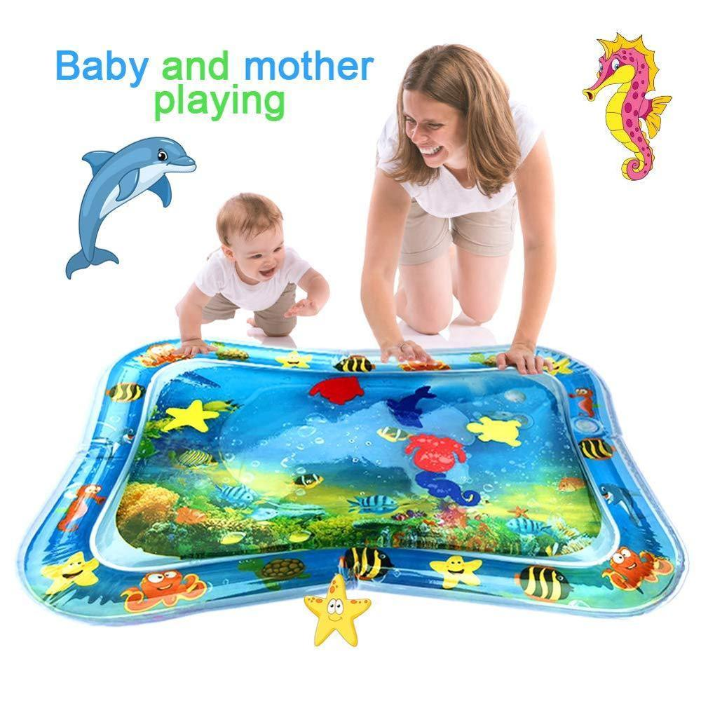Baby Kids Water Play Mat Toys Playmat Toddler Fun Activity Play Toy Soft Cushion Inflatable Water Pad