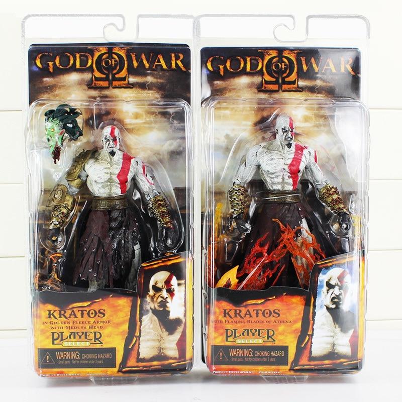 NECA 18 cm God of War Kratos In Vello Doro Armatura con Medusa Testa PVC Action Figure Modello Doll Giocattoli Grande regalo