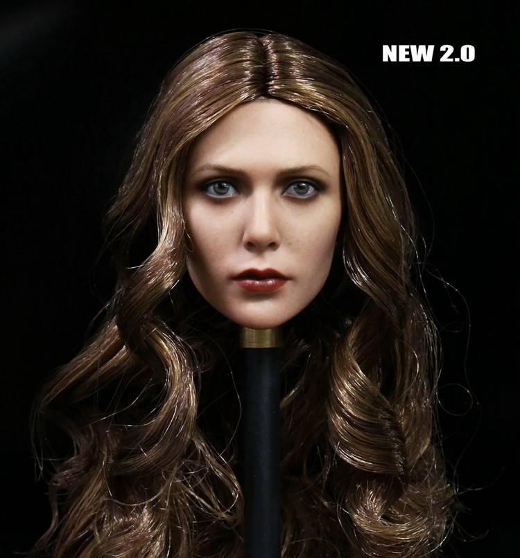 1:6 scale Female Figure accessories Avengers: Age of Ultron Scarlet Witch head shape carved for 12 Action figure doll die shi spot burning the soul of a model burns 1 6 head carved figures are base contains mask
