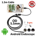 Hotsales 5.5mm Android OTG USB Endoscope Camera 1.5M Snake USB Tube Inspection Android OTG USB Borescope Android Snake Camera