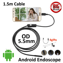 Hotsales 5.5mm Android OTG USB Endoscope Camera 1.5M Snake USB Tube Inspection Android OTG USB Borescope Android Pinhole Camera