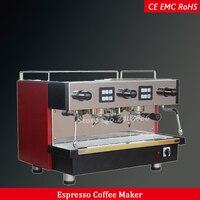 Двойной группы Электрический коммерческих итальянский эспрессо Кофе Maker машина полуавтомат для кафе и ресторанов