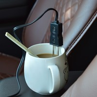 12V Car Styling Mini Portable Car Immersion Heater Tea Coffee Water Auto Electric Heater