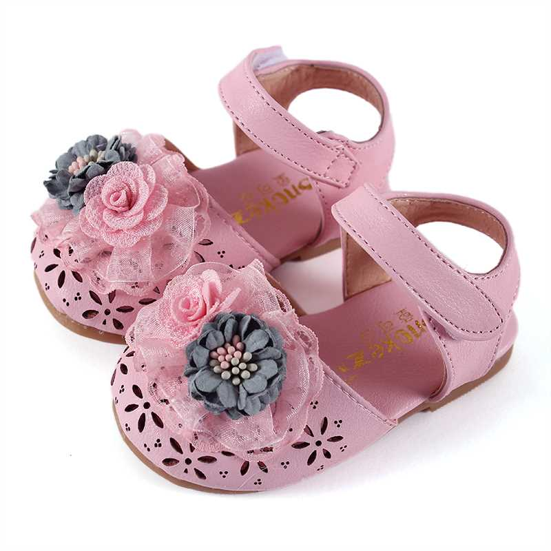 COZULMA Girls Princess Cut outs Sandals Shoes Kids Fashion Lace Flower Beach Sandals Children Baby Soft Sole Summer Shoes in Sandals from Mother Kids