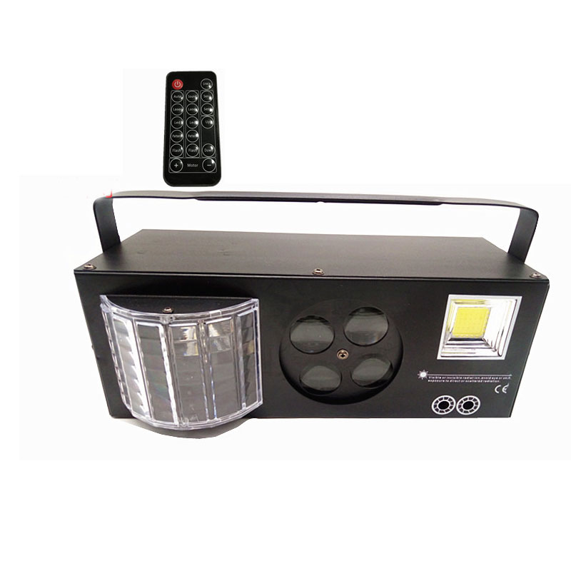 Remote Control Sound Control Intelligent Stage Light Lamp Butterfly / flashing light/ laser / pattern lamp 4 in 1 Stage LightingRemote Control Sound Control Intelligent Stage Light Lamp Butterfly / flashing light/ laser / pattern lamp 4 in 1 Stage Lighting
