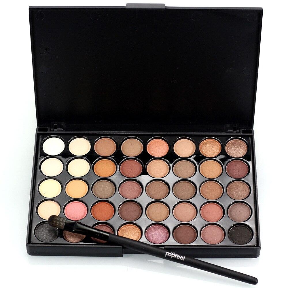 Popfeel 40 Farben Augen Make-Up Matte Glitter Lidschatten Diamant Schimmer Eye Primer Luminous Lidschatten Frauen Geschenk