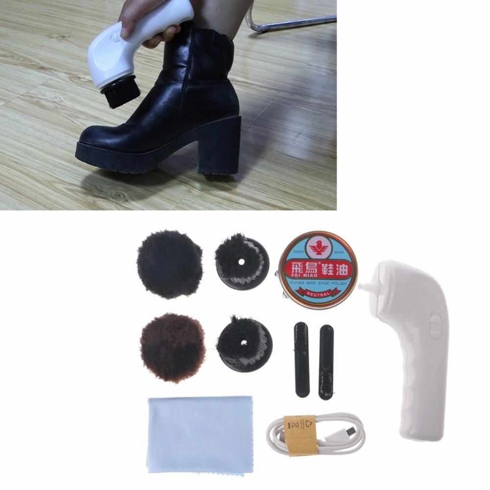 Handheld USB Charging Interface Automatic Electric Shoe Car Brush Shine polisher intelligent sole shoe polisher shoe cleaning machine household automatic shoe cleaner