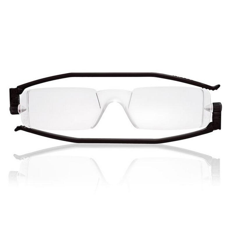 NUEVO diseño de marca 360 Rotación plegable gafas de lectura portátiles para hombres mujeres compacto delgado lector flexible con caja Leesbril A1