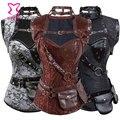 Corzzet Steampunk Clothing Waist Slimming Corsets Steel Boned Plus Size Corset 6XL Gothic Corselet Overbust Burlesque Costume