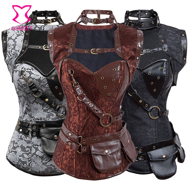 corzzet steampunk clothing women corsets and bustiers plus size