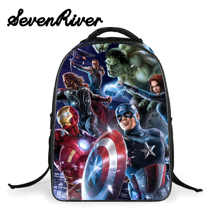 16 Inch The Avengers ChildrenPrimary School Bags Schoolbag For Boys Iron Man Backpacks Shoulder Bag Mochilas Infantis