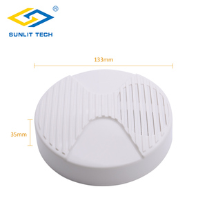 Image 2 - 2pcs/Lot 12V Mini Indoor Wired Horn Siren High Quality ABS Housing Wired Hooter Home Security Sound Alarm Strobe System 110dB