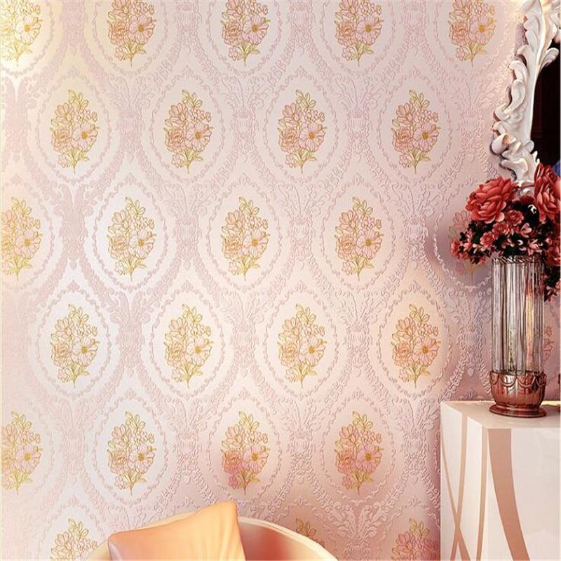 Beibehang Senior européen rural non tissé épais 3 d mode atmosphère douce chambre salon papier peint papel de parede - 2