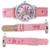100% Подлинная Барби часы для девочек розовая Кожа Смотреть детский мультфильм Повседневная Кварцевые Наручные Часы relógio feminino BA00124-1