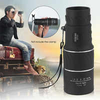 16x52 High Definition Compact Monocular Zoom Telescope Scope Coating Optic Lenses For Hunting Camping Surveillance