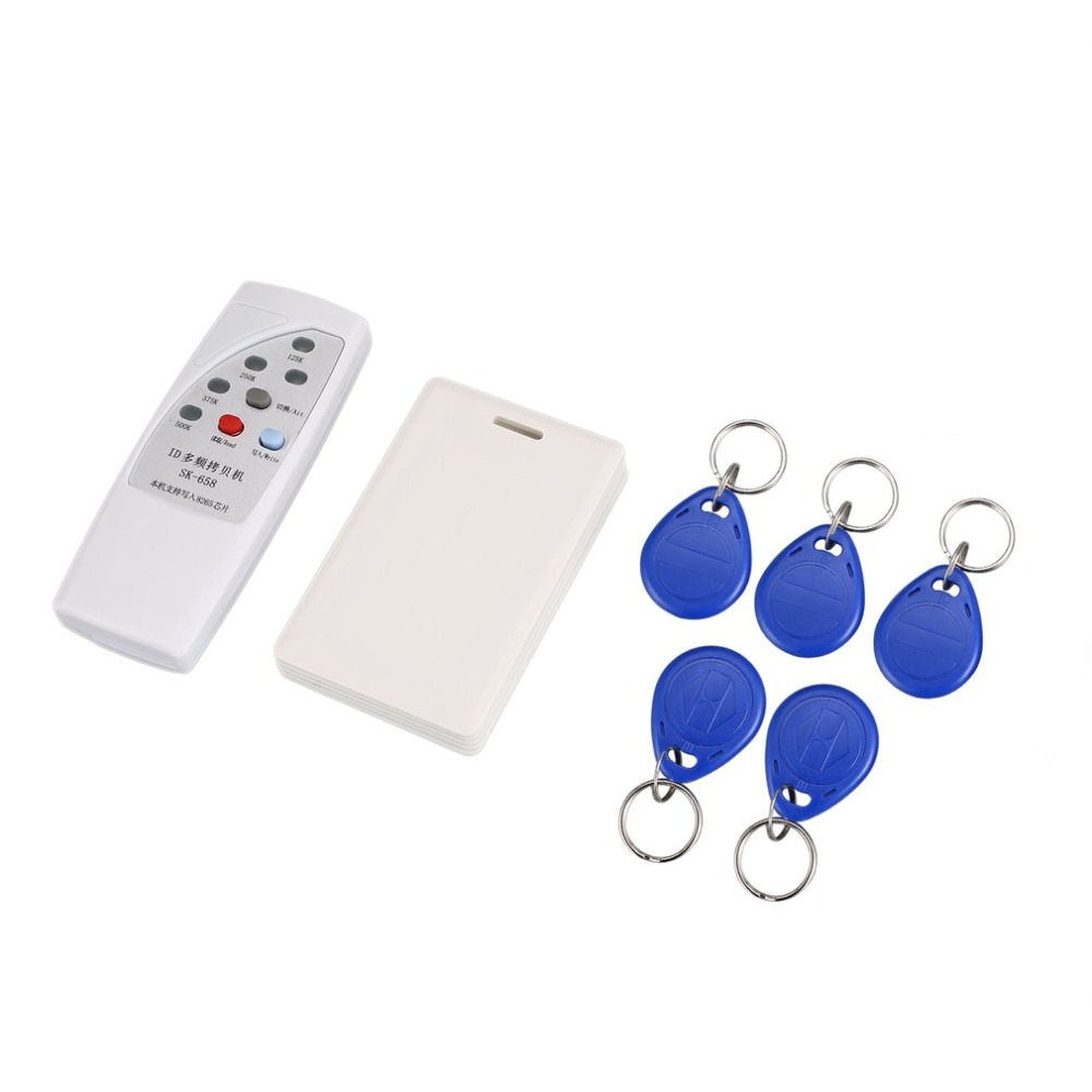 RFID Reader 125KHz EM4100 ID Card Copier/RFID Duplicator + 5pcs Chip Key Card Token Tags + 6pcs Keyfobs