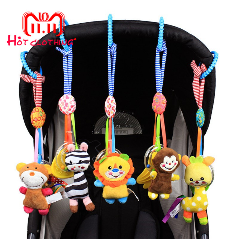 Cartoon Baby Stroller Accessories Crib Hanging Bed Toy Plush Cartoon Cute Pendant Baby Car Accessories pendant hanging accessories husky pendant hanging accessories