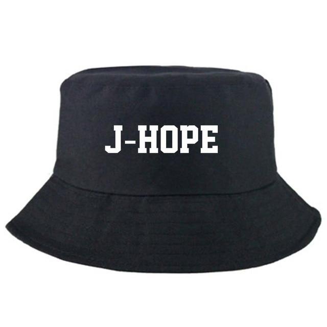 95b2cadd49d42 New Kpop BTS Bangtan Boys JIMIN V JIN JUNGKOOK RM bucket hats Summer  outdoor fishing fisherman