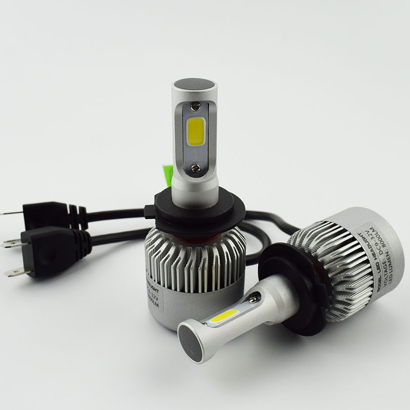 2 PCS LED Car Headlight Bulb Hi-Lo Beam COB Headlights 72W 8000LM 6500K Auto Headlamp 12V 24V fog light work Head lamp H4 H7 H11 2pcs set 72w 7200lm h7 cob led car headlight headlamp auto lamps led kit 6000k headlight bulb light car headlight fog light