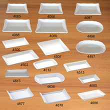 Melamine Dinnerware Dinner Japanese sushi Imitation porcelain Rectangle Dish Dessert plate A5 Tableware