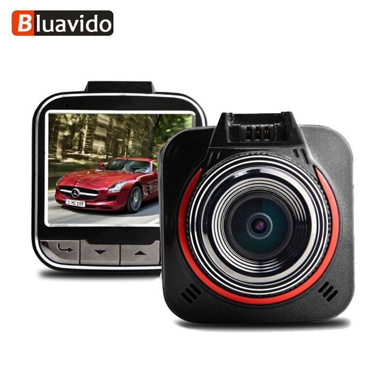 Bluavido 2.0 pouces voiture DVR Vision nocturne Full HD 1080 P Ambarella A7 Auto caméra enregistreur 1296 P Dashcam 170 Angree g-sensor