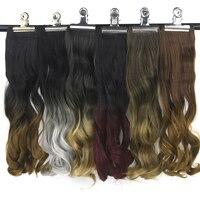 Soowee, 20 цветов, кудрявые, бордовые, серые, Омбре волосы, высокотемпературное волокно, синтетические волосы на заколках, накладные волосы
